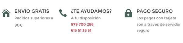 Ventajas de comprar online en Judith Castro, Envio Gratis, Pago Seguro, Teléfono de contacto