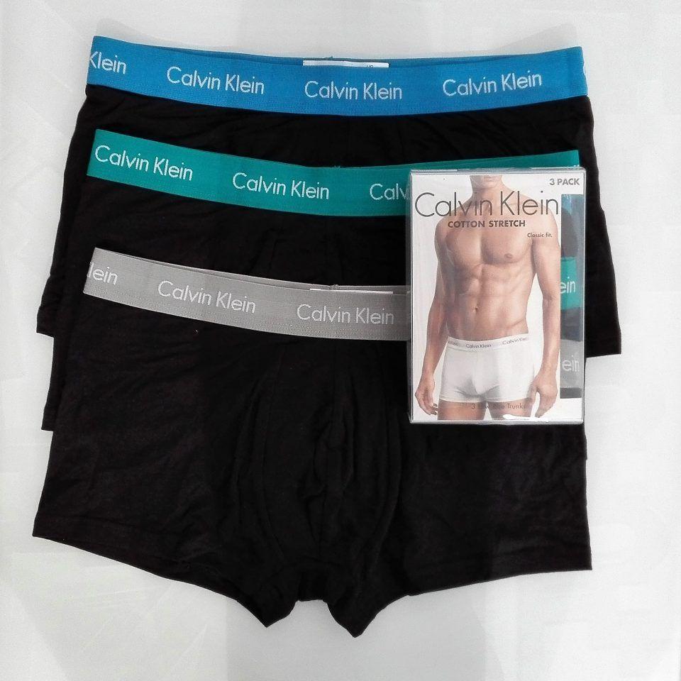 Bóxer-pack-3-negros-combinando-cinturillas-elásticas-azul-verde-gris-claro-stretch-cotton-talle-bajo-calvin-klein-1